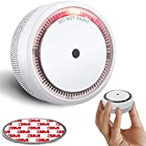 SITERWELL Smoke Detector , 10-Year Smoke Alarm with Photoelectric Technology, Small Fire Detector with Built-in Battery and Test&Silence Button for House and Office, UL Listed, GS522C-A, 1 Pack