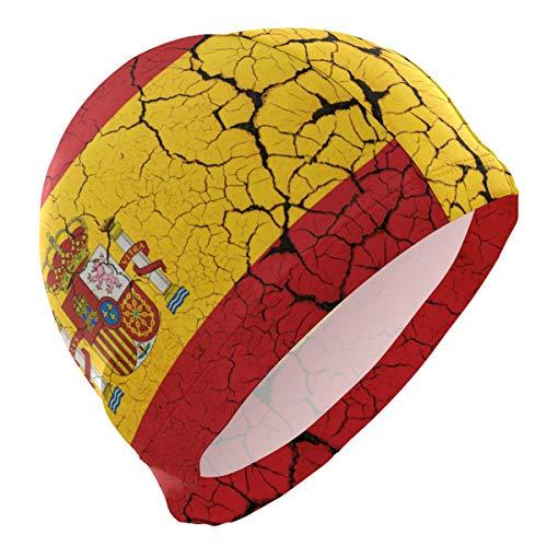 PINLLG Gorro de natación con la bandera de España abstracta para hombres,...