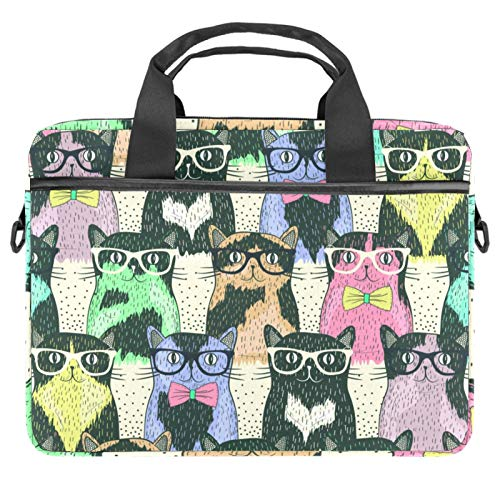 13-14.5 Inch Laptop Sleeve Case Hipster Cute Cats Protective Cover Bag Portable Computer Notebook Carrying Case Briefcase Message Bag