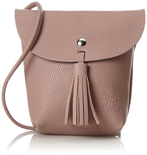 TOM TAILOR Umhängetasche Damen Ida Schultertasche, Rot (Rose), 4.5x16x17 cm, TOM TAILOR Handtaschen, Taschen für Damen