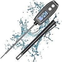 【Sofortiges Lesen mit hoher Genauigkeit】Das küchenthermometer ist mit einem hochpräzisen Sensor ausgestattet, der die interne Temperatur der Lebensmittel innerhalb von ca. 2–4 Sekunden schnell ablesen kann; Temperaturgenauigkeit: ±1 °C (±2 °F) im Ber...