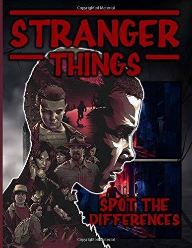 Stranger Things Spot The Difference: Stranger Things Confidence And Relaxation Adult Picture Puzzle Activity Books For Women And Men