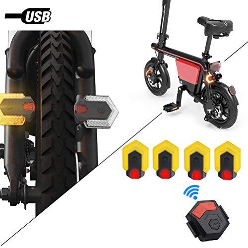 Macabolo Smart Bike Blinker 85LM LED Nachtlicht Front und Hinterung Sicherheit Warnleuchte wasserdichtes Fahrrad Rücklicht mit Fernbedienung für Outdoor-Radfahren