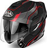 Airoh CASCO HELMET MODULARE MENTONIERA RIBALTABILE REV REVOLUTION MATT RED (L)