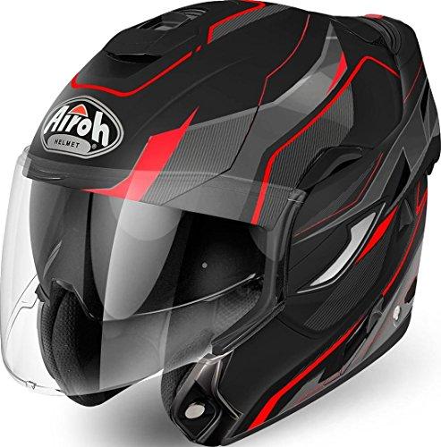 Airoh KLAPP HELM Motorradhelm REV REVOLUTION BLACK MATT M