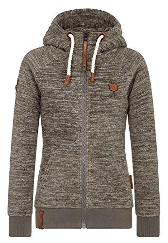 Naketano Female Zipped Jacket Gigi Meroni Pimped Dark Olive Melange, XS