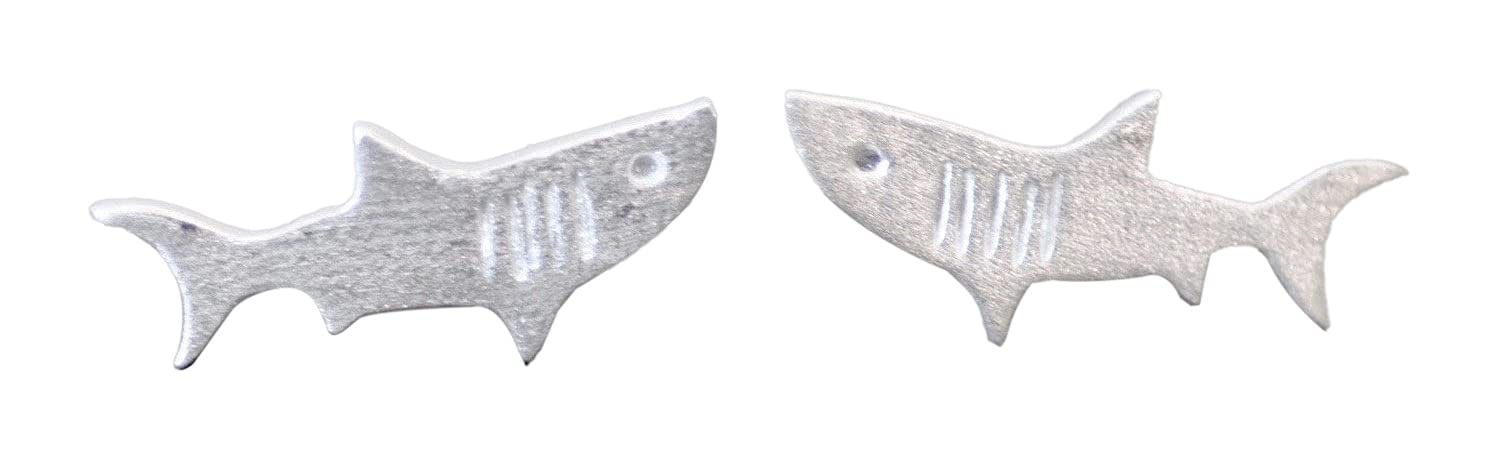 Max 40% OFF Shark Stud cheap Earrings in Sterling Jewels - Jamber Silver