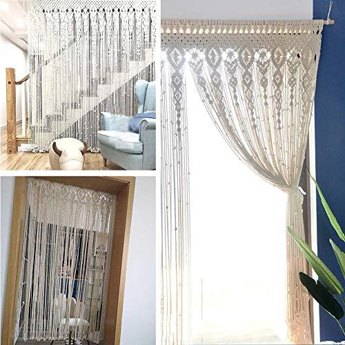Boho Wandteppich Vorhang Tür Fenster Hängender Vorhang Wandbehang Gewebter Wandteppich Wand Dekoration für Schlafzimmer Wohnzimmer Apartment Hochzeitsfeier 90x180 cm / 100x200 cm
