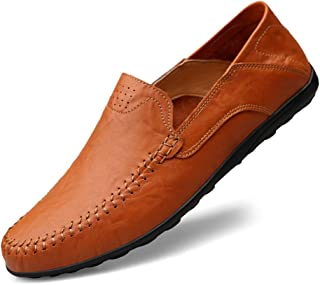 NIIVAL Men's Moccasins Classic Low Shoes Genuine Leather Loafers Men's Slippers Comfort Driving Low Shoes