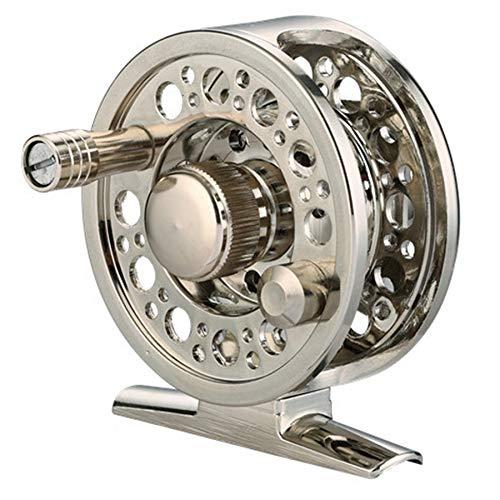 HLPIGF Carrete de Pesca con Mosca de Metal Completo 2 + 1BB 1: 1 AleacióN de Aluminio Carrete de Mosca de FundicióN una PresióN Carrete de Pesca