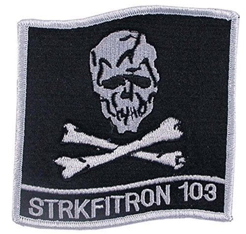 MFH Truppenabzeichen VF-103 Jolly Rogers Aufnäher Stickabzeichen Stoffabzeichen Verschiedene Motive (Motiv 4)