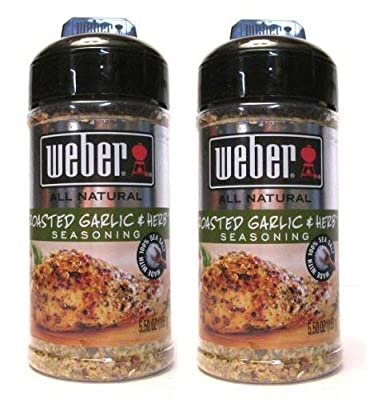 Weber All Natural Roasted Garlic & Herb Seasoning (Pack of 2) 5.50 oz Size by ACH Food Companies