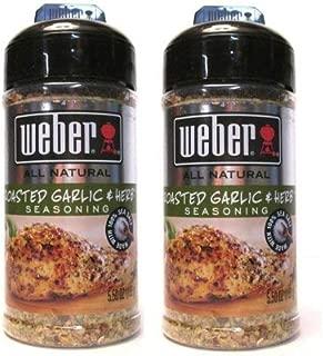 Weber All Natural Roasted Garlic & Herb Seasoning (Pack of 2) 5.50 oz Size