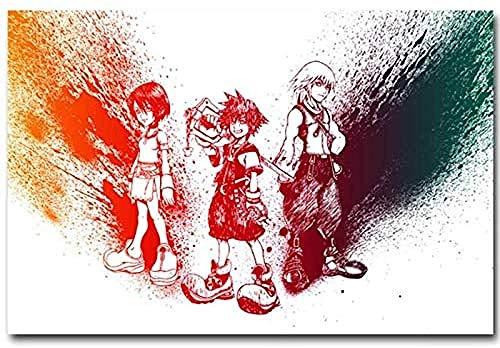 DFCYT Rompecabezas de Madera, Rompecabezas para Adultos de 1000 Piezas, Rompecabezas Casual Muy desafiante para Adultos y Adolescentes- Kingdom Hearts