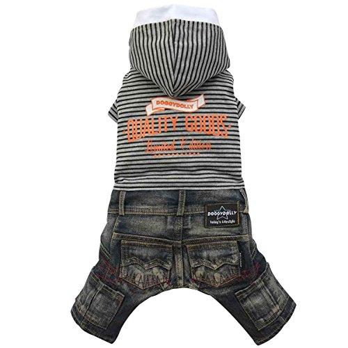 Doggydolly Combinaison Jeans Chien Quality Goods Noir de