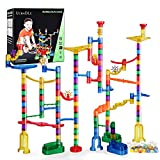Ucradle Marble Run 165Pcs Marble Runs Toy Marble Maze Race Track Game Set