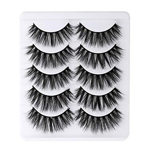 KADIS 5 Pairs 3D Eyelashes Natural False Eyelashes Faux Cils Long Lashes Soft Fake Eyelashes Extension Makeup Cosmetic,HB399