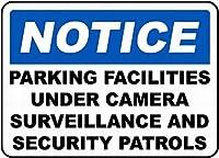 Notice Parking Facilities 金属板ブリキ看板警告サイン注意サイン表示パネル情報サイン金属安全サイン