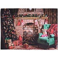 VALICLUD シックな1PCクリスマスの壁のタペストリーの背景の壁の布の壁の装飾的な掛かる布