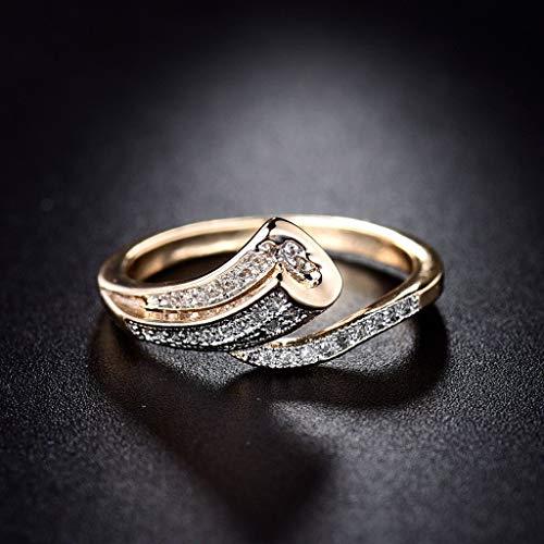 JIUXIAO Anillo de Diamante de Laboratorio Natural Anillos de Diamante de Laboratorio Amarillo Joyas de peridoto para Mujer Anillos de Diamante de Laboratorio de Piedras Preciosas