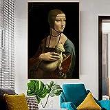 ganlanshu Famoso Lienzo Pintura Artista decoración de la Pared Lienzo salón decoración del hogar,Pintura sin Marco,30x45cm