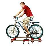 Arion - Rodillo de entrenamiento para bicicleta (14 x 53 x 84 cm, 150 kg), color rojo