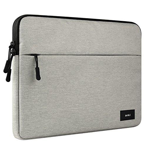 ERUMID Laptoptasche, 12 Zoll Computertasche, 13 Zoll Laptoptasche, 15 Zoll MacBook/Dell/HP/Microsoft Laptoptasche (14 - 15,4 Zoll, hellgrau)