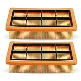 KEEPOW 2 Flachfaltenfilter Kompatibel für Kärcher AD 4 Premium, AD 2 Aschesauger und Trockensauger,6.415-953.0