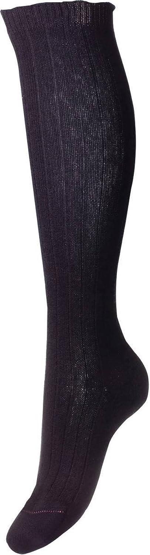 Black Tabitha Rib Over the Calf Cashmere Socks by Pantherella