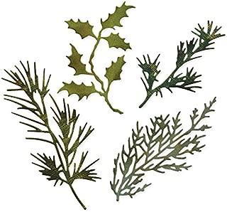 VT BigHome Metal Cutting Dies Scrapbooking Holiday Greenery Leaves Craft Die cuts Card Making DIY Emboss Thinlits Create Stencil 12894MM