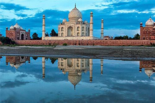 FAWFAW Rompecabezas Niños Y Adultos 1500 Piezas, Reflexión De Taj Mahal En India