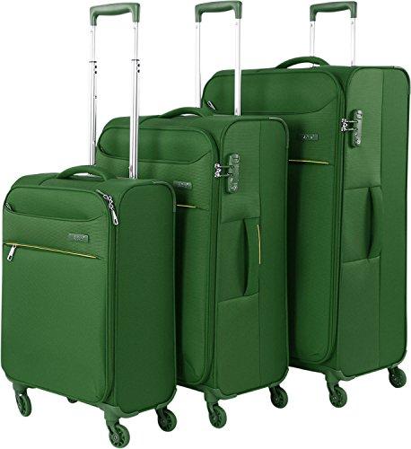 d & n Travel Line 6304 4-rollen kofferset 3-delig, turquoise (groen) - 6304-05