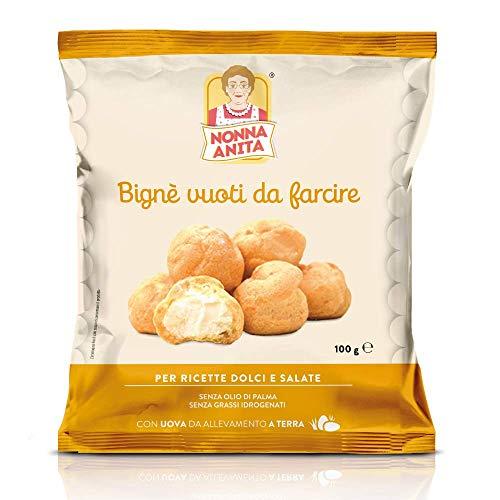 Nonna Anita Bigné Vuoti da Farcire, pacco da 6 x 100 g. Realizzati con burro e uova da allevamento...
