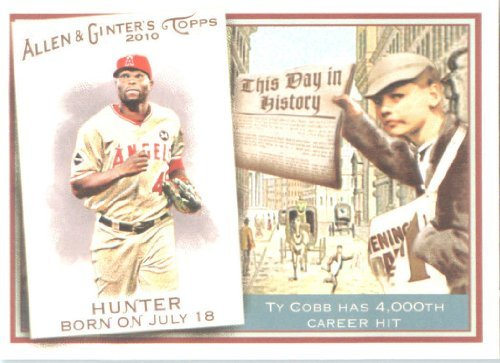 2010 Topps Allen & Ginter This Day In History Baseball Card #TDH39 Torii Hunter