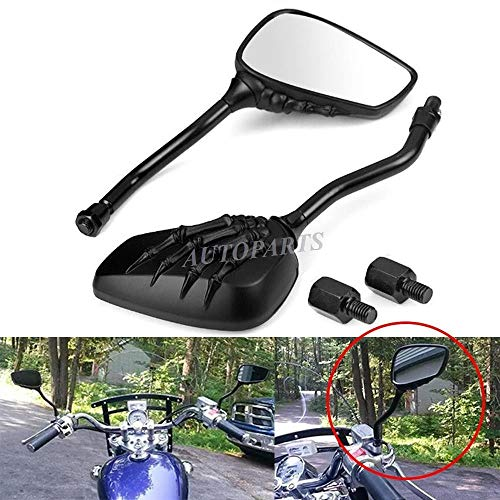 Tuning_Store The Best Accessories for Tuning and Upgrading Your Iron Horse  Custom Cruiser Motorcycle Bikes Black Claw Shadow Skull Hand Rearview Mirrors