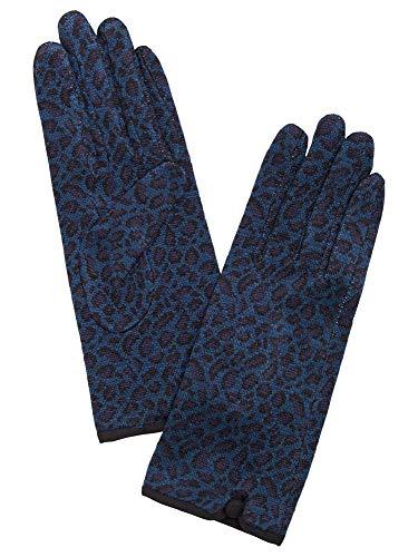 King Louie Damen Fingerhandschuhe aus Strick Glove Africa (S, Autumn Blue)