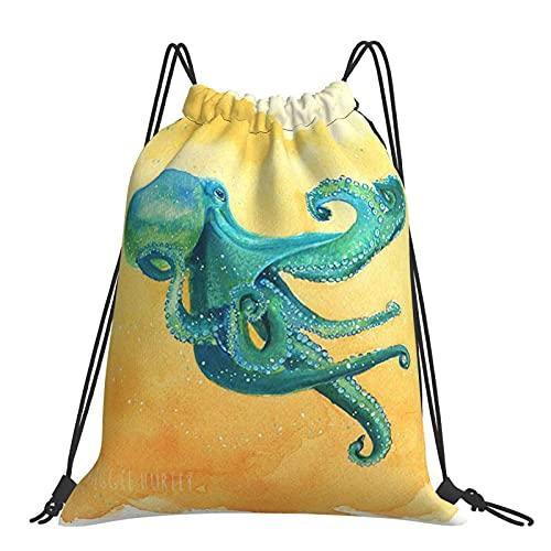 Bolsa de gimnasio Octopus Art Mochila con cordón Bolsas deportivas Bolsa de playa para yoga Gimnasio Natación Viajes Playa