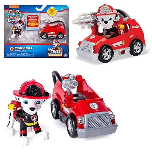 PAW PATROL Ultimate Rescue | Mini Vehículos con Figura del Juego | Patrulla Canina, Figura:Marshall Carro de Fuego