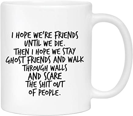 Best friend Besties Coffee Mug - Cute Sarcastic Funny Cup for Men or Women - Unique Fun Gifts for Mom, Dad, Sister, Brother, Best Friend, Him, Her under $20 - Handmade Printed in the USA 11oz