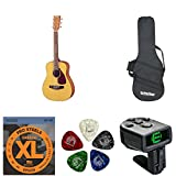 Yamaha JR1 3/4-Size Acoustic Guitar - Natural with Gig Bag and Accessories Bundle