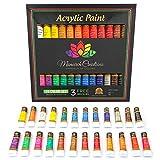 Acrylic paint set 24 colors for Artists. Brush set. Paint kit for...