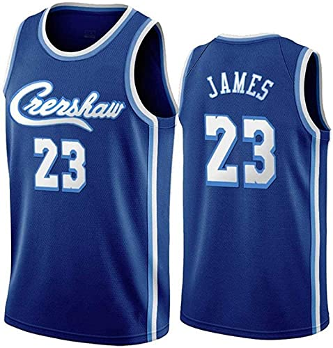 XZWQ Men's NBA Basketball Jersey- Los Angeles Lakers 23# James Unisex Basketball Jerseys Cómodo Bordado Malla De Malla Camiseta Camiseta Sin Mangas,Azul,XL