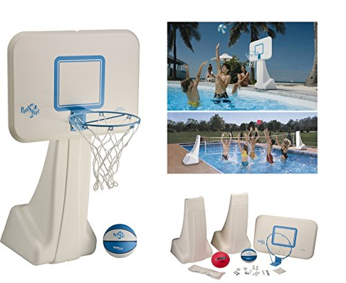 Dunnrite Products Pool Sport 2-in-1 Swimming Basketball Hoop...
