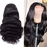 Human Hair Wigs Body Wave 12 Inch Brazilian Hair Wig 4x4 Lace Frontal Wig For...
