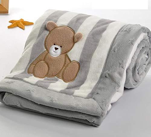 Hpybest Hochwertige Baby-Decke, dicker Flanell, Wickeltuch, Kinderwagen, Cartoon-Decke, für Neugeborene