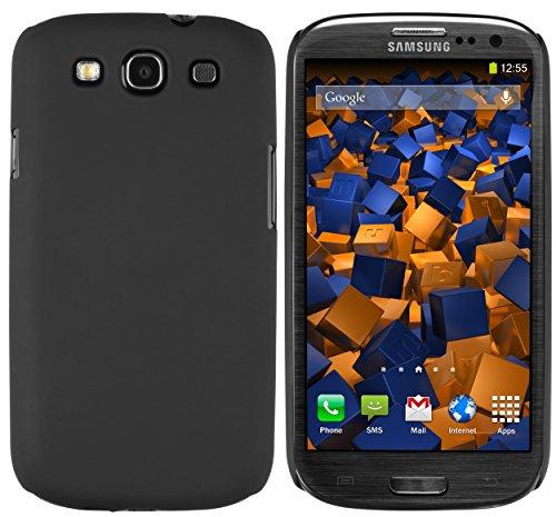 mumbi Hülle kompatibel mit Samsung Galaxy S3 / S3 Neo Handy Hard Case Handyhülle, schwarz