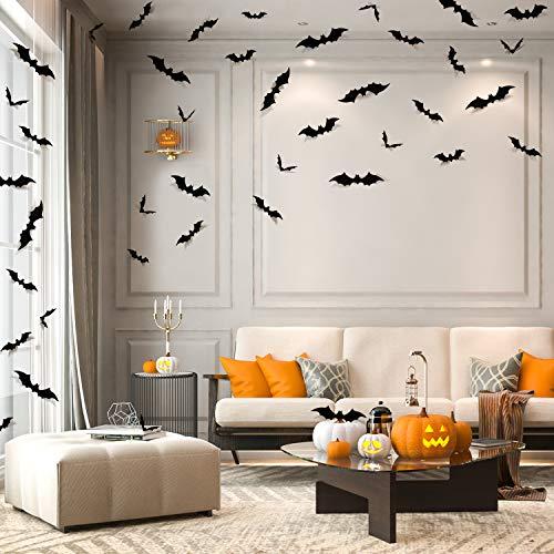 84pcs Halloween Bats Decorations Ha…