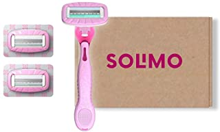 Amazon-merk: Solimo All-in-One dames 4-mes-scheermes + 3 reservemesjes