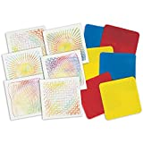 ROYLCO R5841 Optical Illusion 7 by 7-Inch Rubbing Plates, 6-Pack...