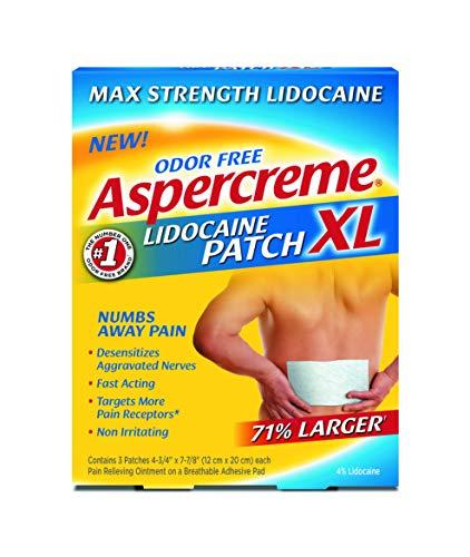 Aspercreme Lidocaine Patch XL Maximum Strength Odor Free, 3 Count